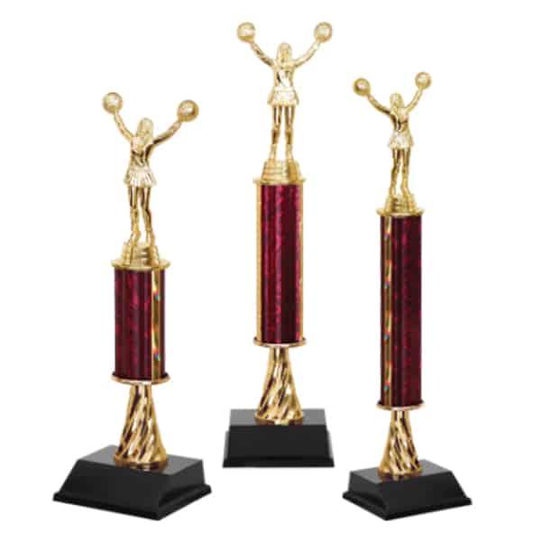 3 Cheerleading Trophies