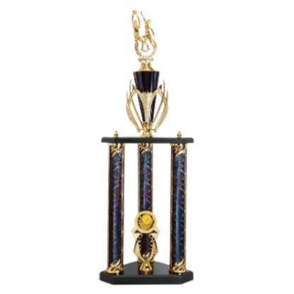 3 Post Action Basketball Trophy