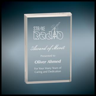 Clear Rectangle Acrylic Award