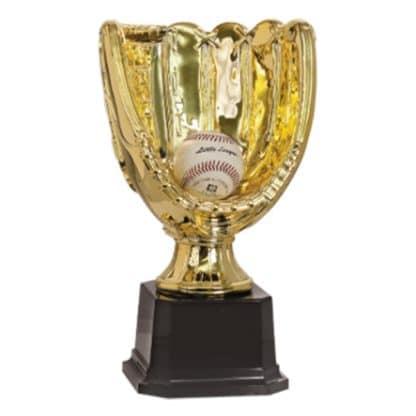 Bright Gold Glove Trophy