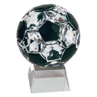 Crystal Soccer Ball Resin Award