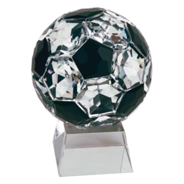 Crystal Soccer Ball Resin Award