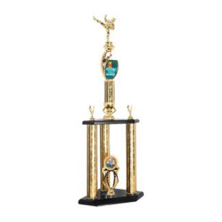 Custom Graphics 3 Post Martial Arts Trophy