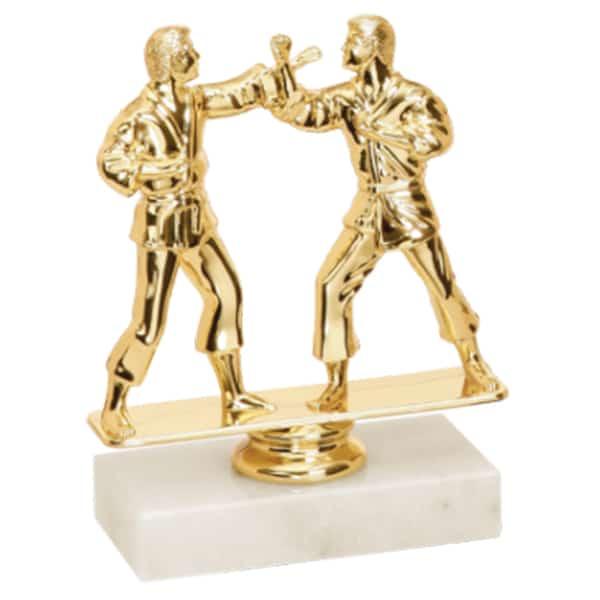 Double Martial Arts Figure Trophy