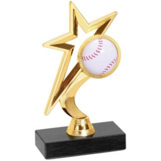 Gold Star Baseball Trophy