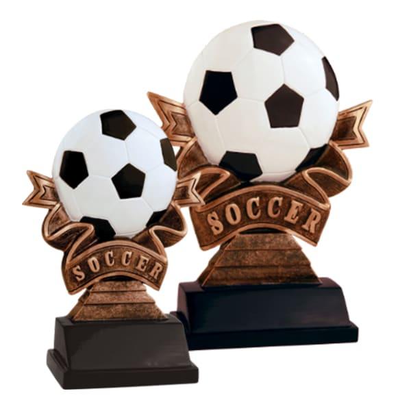 Soccer Ribbon Resin Awards